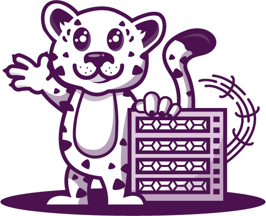 """""""Lenny the Leopard"""" - Mascot of LEOPARD.host"""